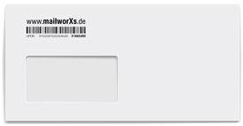 mailworXs Kuvert nur Barcode