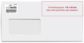 mailworXs-Label aufbringen