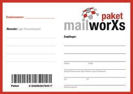mailworXsPaket-Schein mit Code